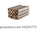 Wooden pressed briquettes Pini Kay from biomass. 44264775
