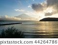 富士山 山中湖 暮色 44264786