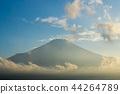 富士山 暮色 黄昏 44264789