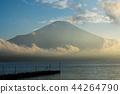 富士山 山中湖 暮色 44264790