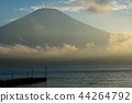 富士山 山中湖 暮色 44264792
