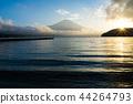 富士山 山中湖 暮色 44264793