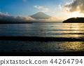 富士山 山中湖 暮色 44264794