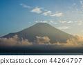 富士山 山中湖 暮色 44264797