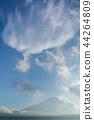 富士山 暮色 黄昏 44264809