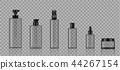 Mock up Realistic Transparent Bottle Product  44267154