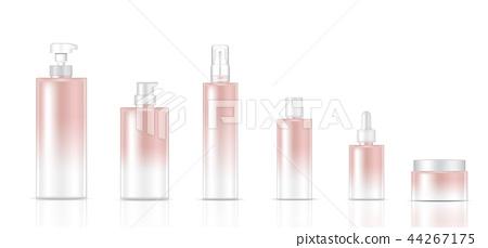 Mock up Realistic Rose gold SkincareBottle Product 44267175