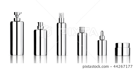 Mock up Realistic Metallic Skincare Bottle Product 44267177