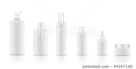 Mock up Realistic White Cosmetic Bottle Product 44267180