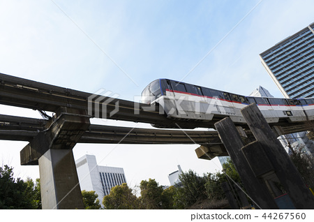 Cityscape with monorail 44267560