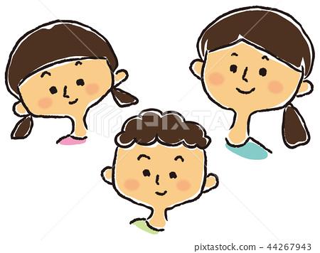 손자 아이 3 명 (누나 · 여동생 · 남동생) 44267943