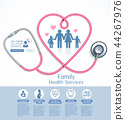 Family health services vector illustrations. 44267976
