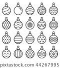 christmas balls icons. Vector illustration. 44267995