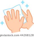 물티슈과 깨끗한 손 44268128