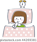 一個年輕成年女性 女生 女孩 44269381