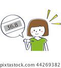 一個年輕成年女性 女生 女孩 44269382