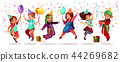 Children nationalities birthday vector celebration 44269682