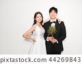 웨딩촬영,신부,신랑,인물,결혼 44269843
