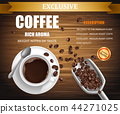 Vector poster with cup of coffee, package design 44271025