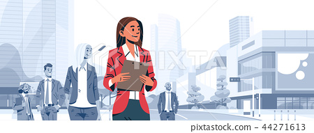 businesswoman team leader boss stand out business people group individual leadership concept female 44271613