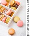 Dessert cake macaron or macaroon in box 44272220
