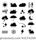 Set of weather icon element Vector 44274299