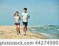여름, 바다, 커플, 연인, 여자, 남자, 해변, 운동 44274990