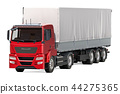 Truck trailer with curtainside from tarp 44275365