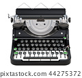 Typewriter front view, 3D rendering 44275372