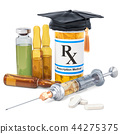 Vaccine and medicine education concept 44275375