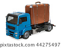 Luggage Delivery Service concept. Truck 44275497