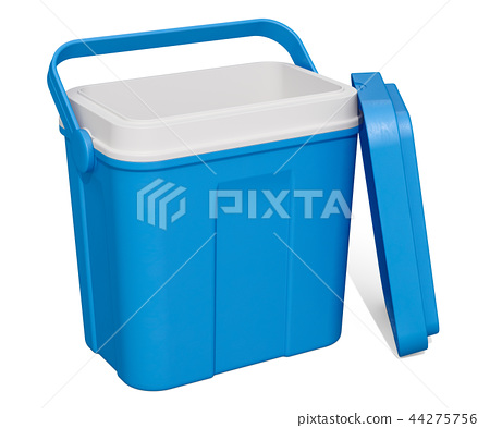 Opened Empty Portable Cool Box, 3D rendering 44275756