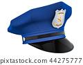 Police hat, cap. 3D rendering 44275777