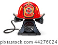 Phone with Firefighter Helmet, 911 concept 44276024