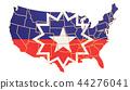 flag, USA, map 44276041