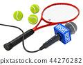 Tennis News concept. Microphone sport news 44276282