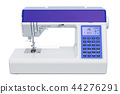 Modern electronic sewing machine, side view 44276291