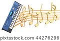 Musical concept. Synthesizer with music notes 44276296