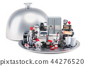 Restaurant cloche with household appliances 44276520