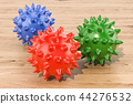 Set of colored spiky balls for massage 44276532