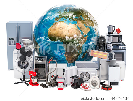 Set of kitchen and household appliances 44276536
