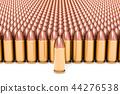 Set of pistol bullets, 3D rendering 44276538
