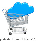 Shopping cart with cloud service sign 44276614