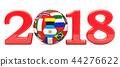 Soccer 2018 concept, 3D rendering 44276622