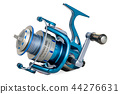 Spinning reel, 3D rendering 44276631