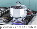 Stainless steel stock pot with glass cover 44276634
