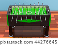 Table football on the wooden floor in the room 44276645
