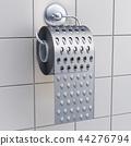 Toilet paper as grater, 3D rendering 44276794