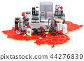 Map of China with home and kitchen appliances 44276839