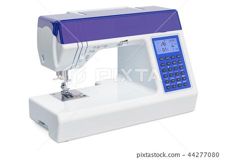 Modern electronic sewing machine close-up 44277080